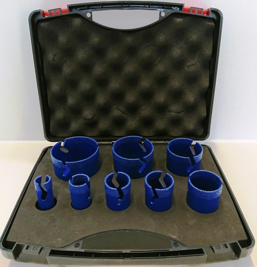Harzig Profi Diamantbohrkronenset SPECIAL Blue 8-teilig