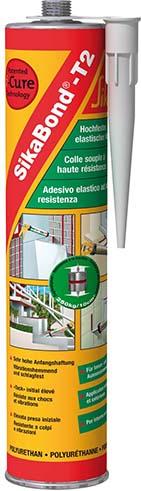 Sikabond T2 Hochviskoser hochleistungs Bau- und Konstruktionsklebstoff  Karton mit 12 x Kartusche 300ml