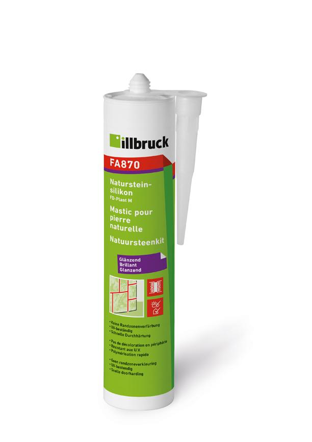 Illbruck FA870 Natursteinsilikon Kartusche 310ml TRANSPARENT