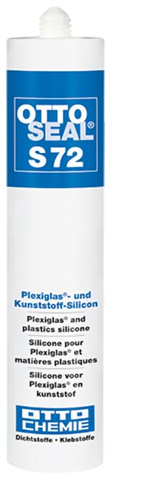 Ottoseal S72 Das Plexiglas- und Kunststoff-Silicon Kartusche 310ml