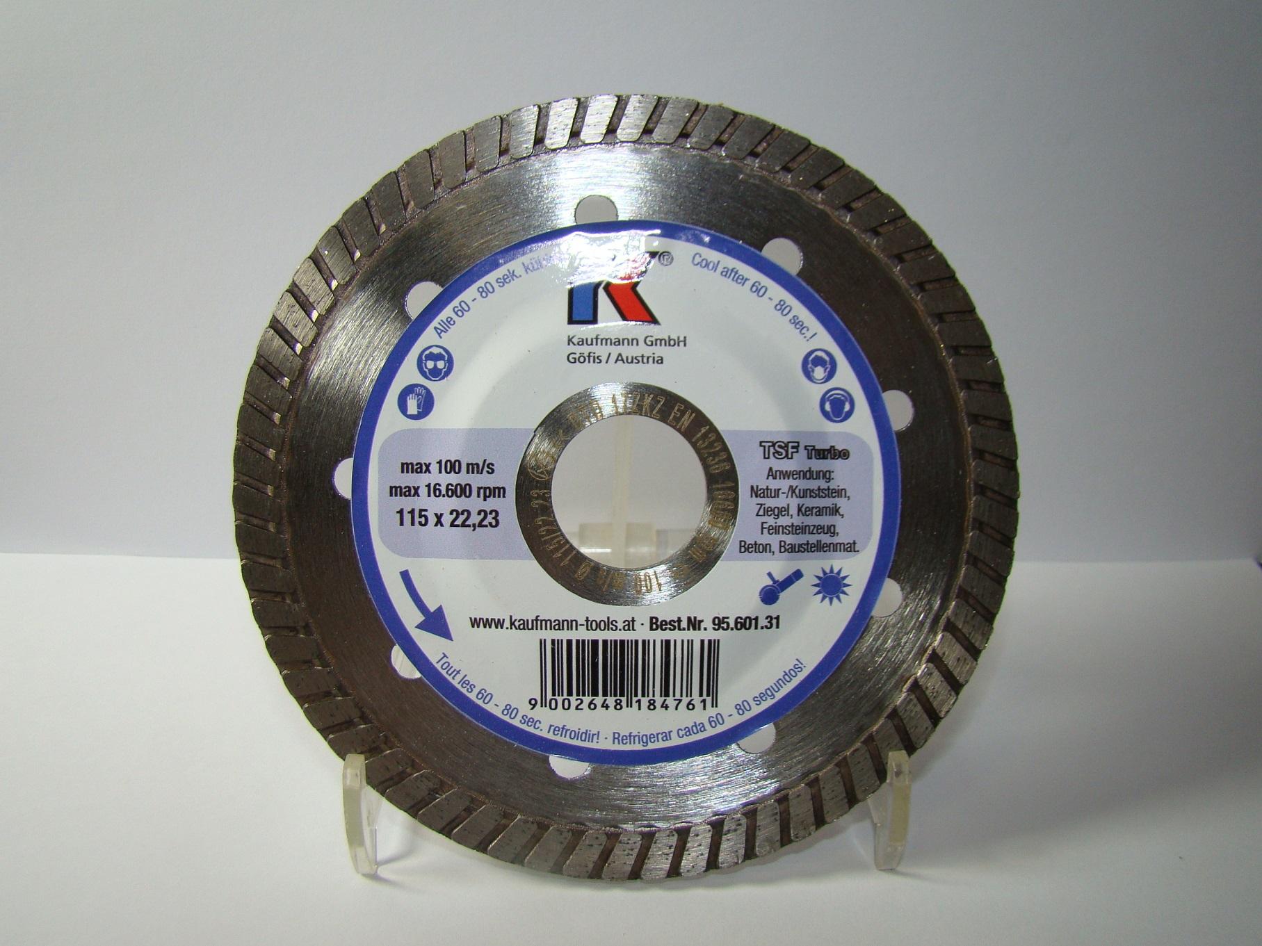 Kaufmann Diamanttrennscheibe TSF Turbo 115mm