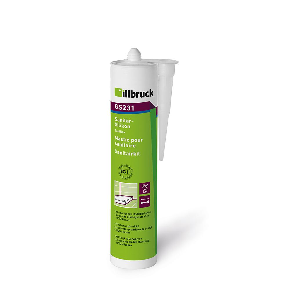 Illbruck GS231 Saniflex Sanitärsilikon Kartusche310ml SCHIEFERGRAU