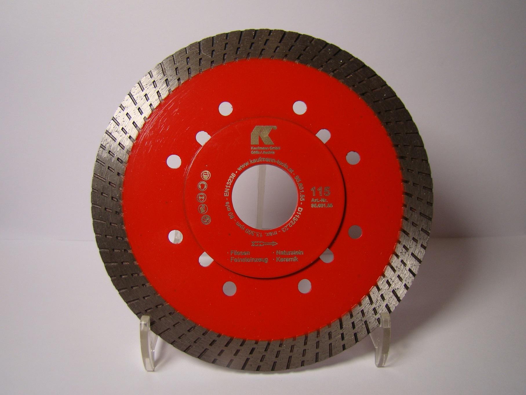 Kaufmann Diamanttrennscheibe Turbo Rot extra dünn 115mm