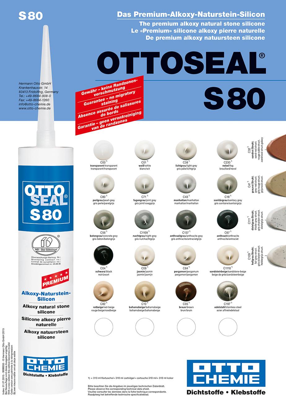 Ottoseal S80 Das Premium Alkoxy Naturstein Silicon Kartusche 310ml