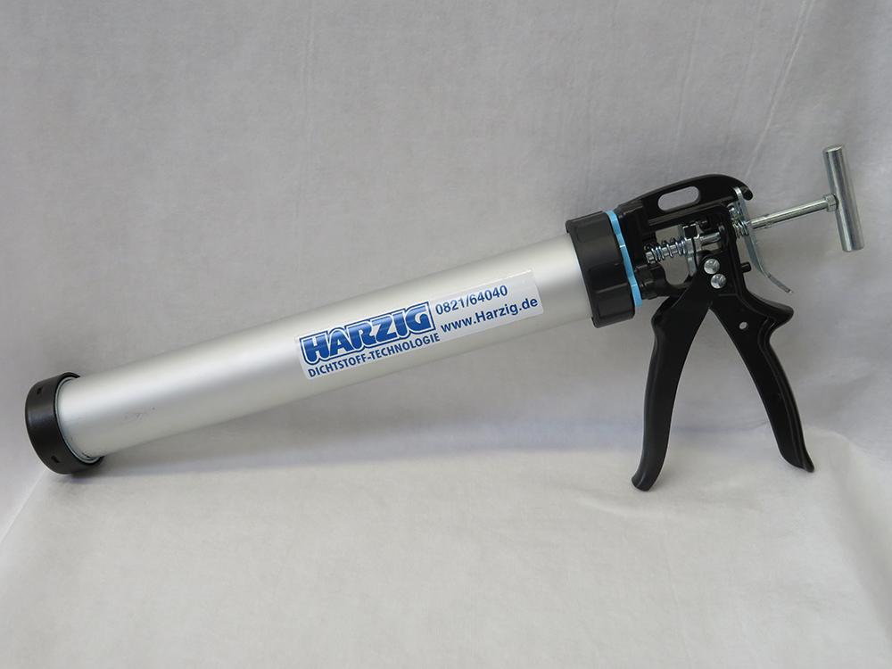 Harzig HD Pistole Profi Handwerkerqualität 18:1 Metall Bajonettverschluss für Folienbeutel 600ml
