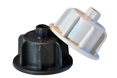 Tiramisu Fliesen Nivelliersystem 150 Hauben grau für 12-20mm starke Platten
